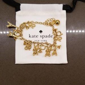 Kate Spade Paris themed charm bracelet